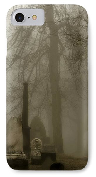 A Graveyard Seeped In Fog IPhone Case by Gothicrow Images
