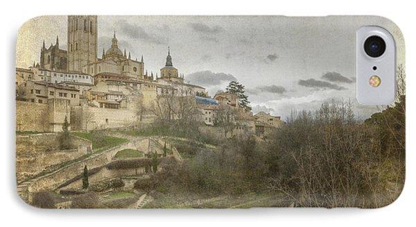 Segovia View Phone Case by Joan Carroll