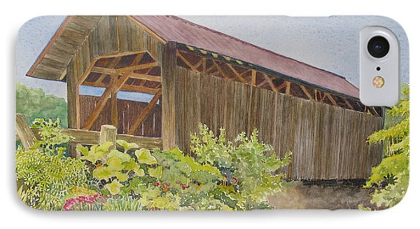 Seguin Covered Bridge In Charlotte Vermont Phone Case by Mary Ellen Mueller Legault