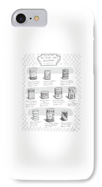 Selections From The Sliced Peach Collection IPhone Case by Roz Chast