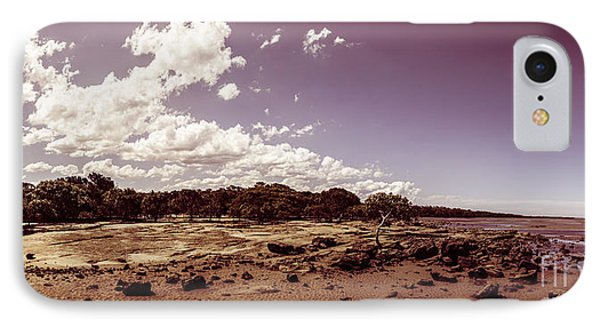 Selenium Toned Rocky Beach Landscape IPhone Case