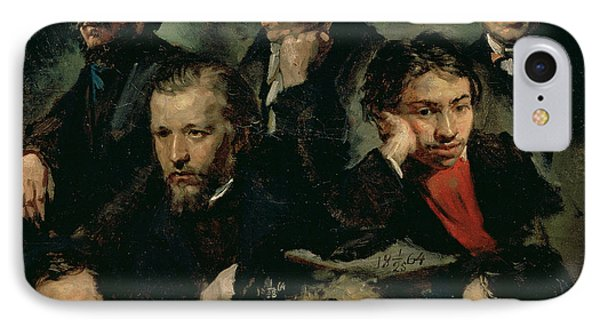 Self Portrait And Portraits Of Friends, 1864 Oil On Canvas IPhone Case