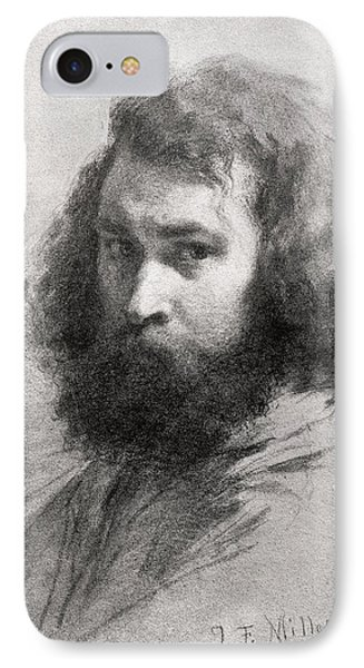 Self Portrait, C.1845-46 Charcoal And Pencil On Paper Bw Photo IPhone Case
