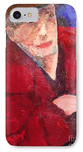 IPhone Case featuring the painting Self-portrait by Donald J Ryker III