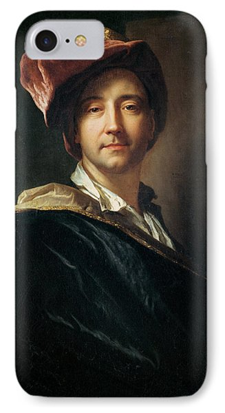 Self Portrait In A Turban, 1700 Oil On Canvas IPhone Case by Hyacinthe Francois Rigaud