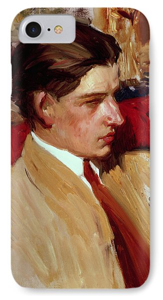 Self Portrait In Profile IPhone Case by Joaquin Sorolla y Bastida