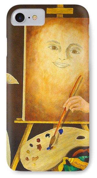 Self-portrait In Progress Phone Case by Pamela Allegretto