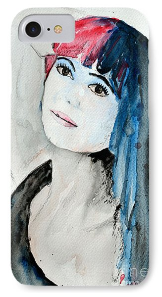 IPhone Case featuring the painting Self Portrait  by Ismeta Gruenwald