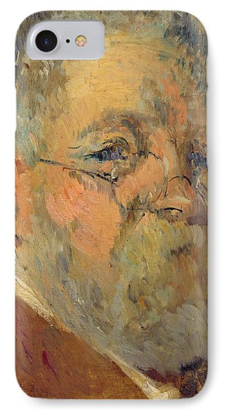 Self Portrait Oil On Panel IPhone Case by Albert-Charles Lebourg
