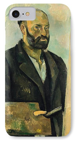 Self Portrait With Palette Phone Case by Paul Cezanne