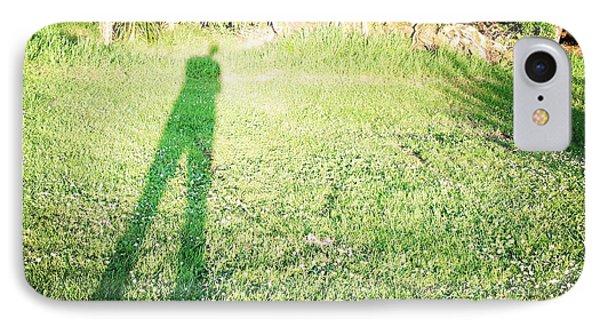 Selfie Shadow Phone Case by Les Cunliffe