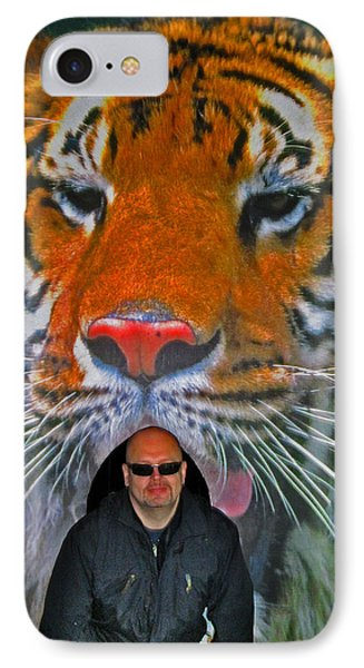 Selfie With The Tiger. IPhone Case