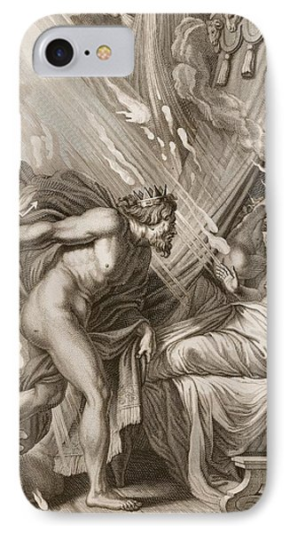 Semele Is Consumed By Jupiters Fire Phone Case by Bernard Picart