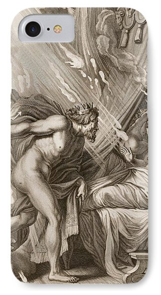 Semele Is Consumed By Jupiters Fire IPhone Case by Bernard Picart