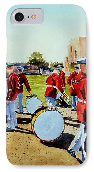 IPhone Case featuring the painting Semper Fi by Ron Stephens
