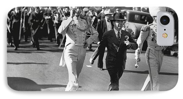 Senator Huey Long In Parade IPhone Case by Underwood Archives