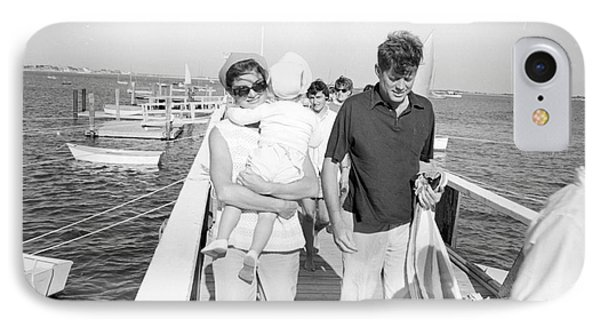 Senator John F. Kennedy And Jacqueline Kennedy At Hyannis Port Marina IPhone Case by The Harrington Collection