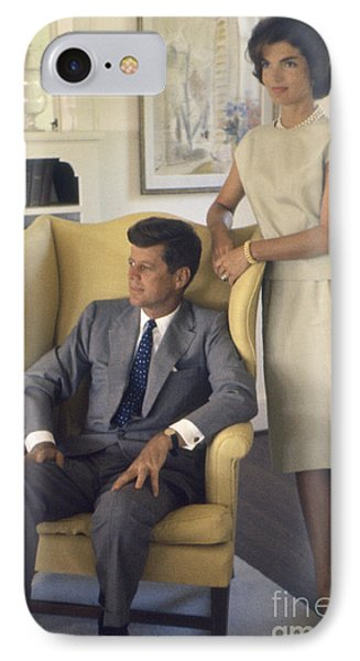 Senator John F. Kennedy With Jacqueline 1959 IPhone Case by The Harrington Collection