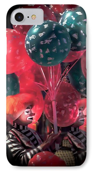 Send In The Clowns IPhone Case by Karen Wiles