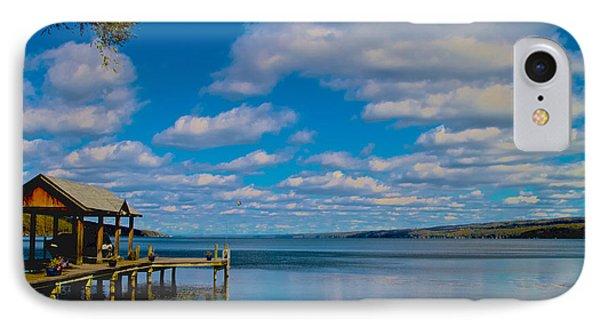 Seneca Lake At Glenora Point IPhone Case by William Norton