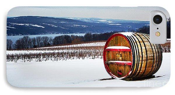 Seneca Lake Winery In Winter IPhone Case