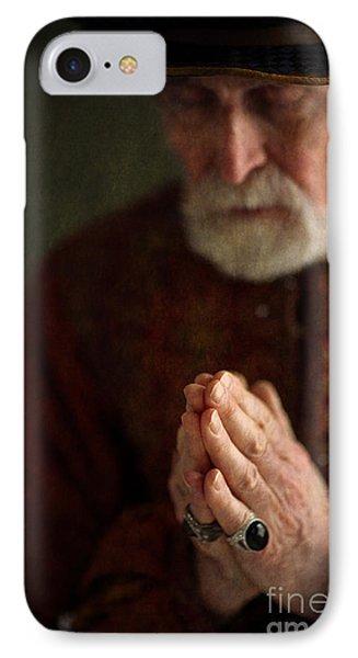 Senior Historical Man In Prayer Phone Case by Lee Avison