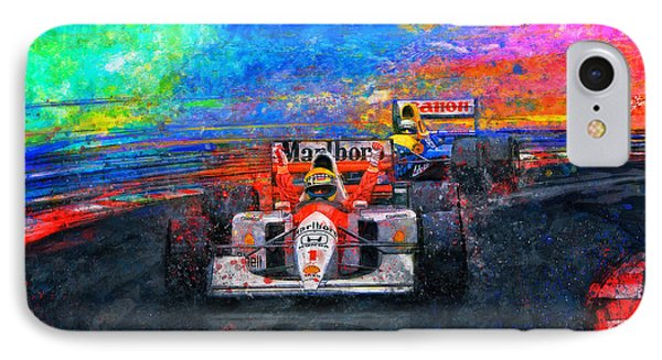 Senna For The Win IPhone Case