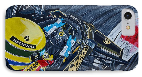 Senna Onboard IPhone Case by Jose Mendez