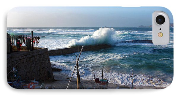 Sennen Cove Harbour Cornwall Phone Case by Terri Waters