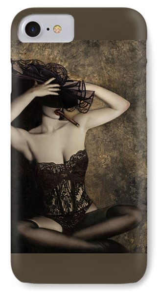 Sensuality In Sepia - Self Portrait Phone Case by Jaeda DeWalt