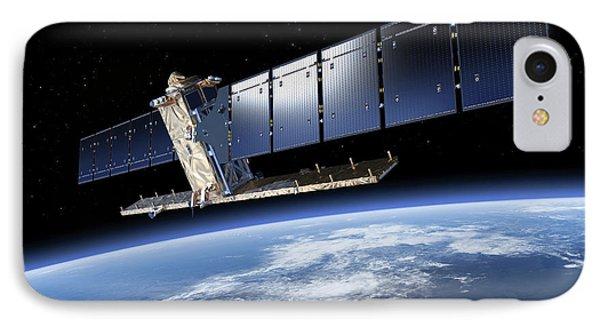 Sentinel-1 Satellite In Orbit IPhone Case by Atg Medialab/esa