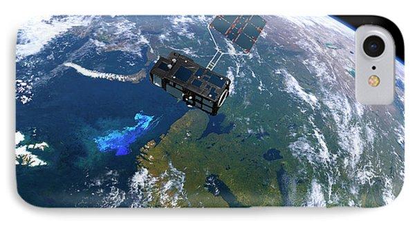 Sentinel-3 Satellite In Orbit IPhone Case