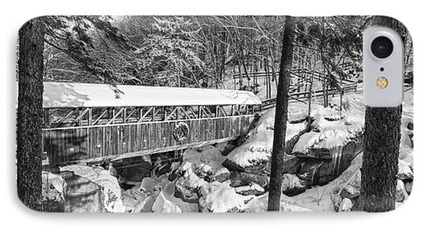 Sentinel Pine Covered Bridge - Franconia Notch State Park New Hampshire Usa Phone Case by Erin Paul Donovan