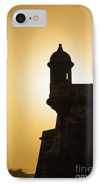 Sentry Box At Sunset At El Morro Fortress In Old San Juan IPhone Case