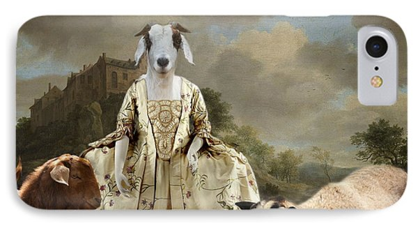 Separating The Sheep From The Goats IPhone Case by Terry Fleckney