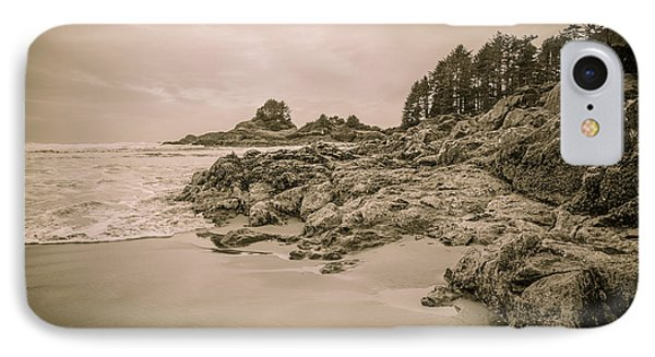 Cox Bay Sepia IPhone Case by Roxy Hurtubise