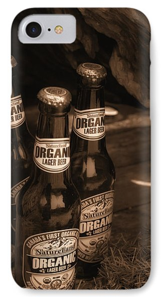 IPhone Case featuring the photograph Sepia Bottles by Rachel Mirror