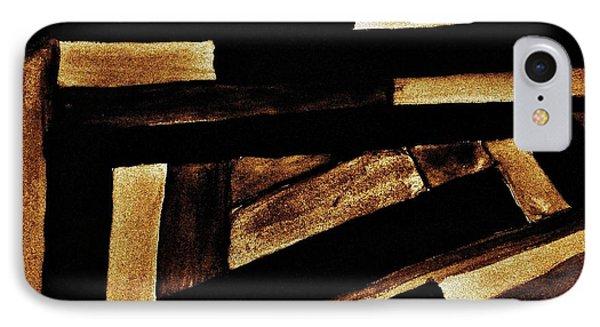 Sepia Maize Phone Case by Marsha Heiken