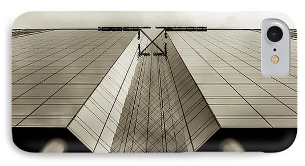 IPhone Case featuring the photograph Sepia Skyscraper Series - Long View by Steven Milner