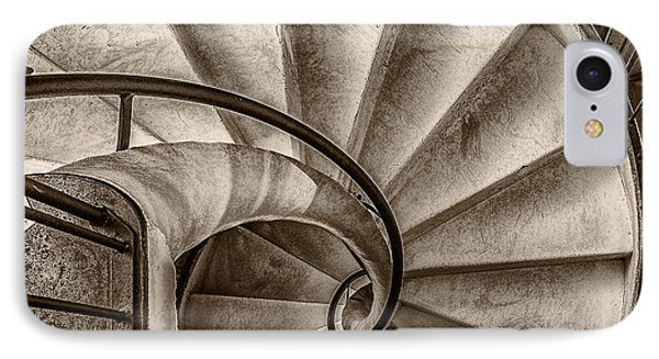Sepia Spiral Staircase IPhone Case