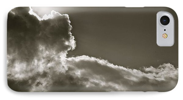 Sepia Sun Ray IPhone Case by Lennie Green