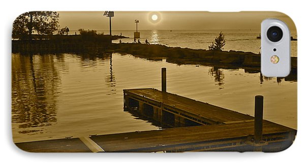 Sepia Sunset Phone Case by Frozen in Time Fine Art Photography