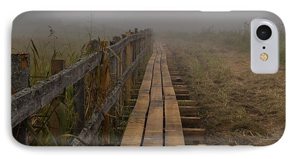 September Mist Hdr - Foggy Day Over Walk Way IPhone Case