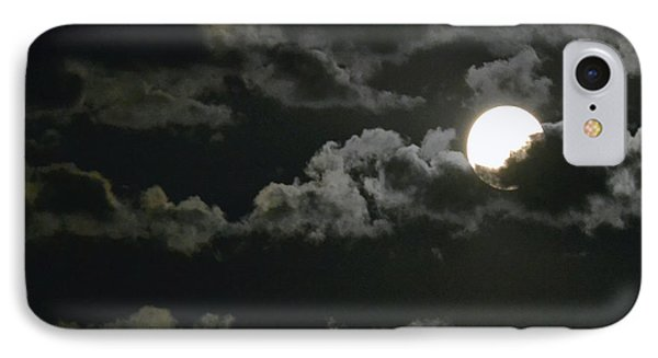 September Moon IPhone Case by Suzette Kallen