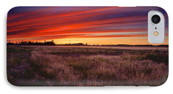IPhone Case featuring the photograph September Sunset North Pole Alaska by Michael Rogers