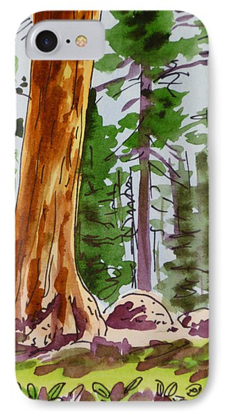 Sequoia Park - California Sketchbook Project  Phone Case by Irina Sztukowski