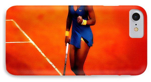 Serena Williams 4a IPhone Case by Brian Reaves