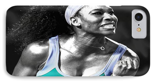 Serena Williams Ace IPhone Case by Brian Reaves