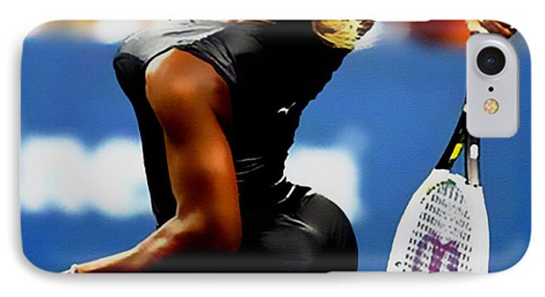 Serena Williams Catsuit II IPhone Case by Brian Reaves