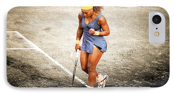 Serena Williams Count It IPhone Case by Brian Reaves